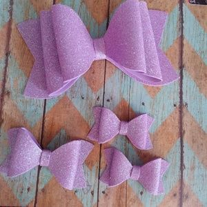 Other - Water resistant light purple hairbows